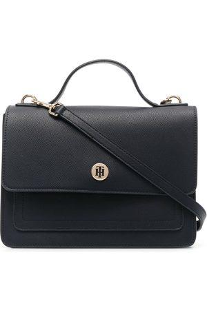 Tommy Hilfiger Women Purses - Honey Flap faux-leather satchel