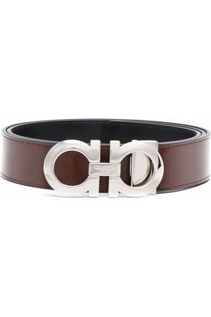 Salvatore Ferragamo Men Belts - Gancini-plaque buckle belt