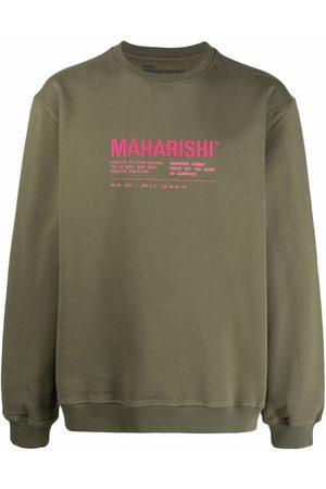Maharishi Logo-print organic cotton T-shirt