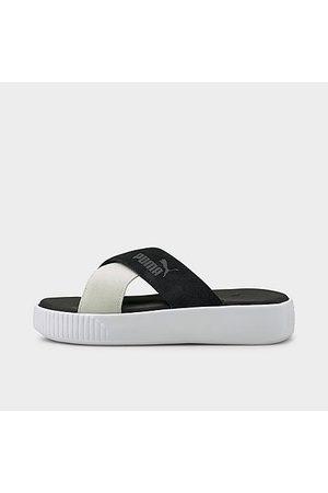 PUMA Women Platform Sandals - Women's Suede Platform Slide Sandals in / Size 6.5