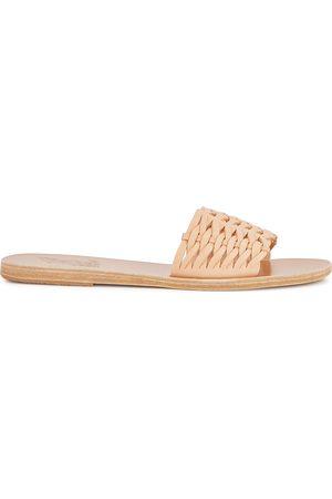 Ancient Greek Sandals Women Sandals - Taygete blush leather sliders