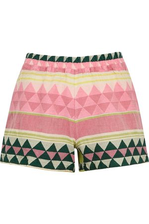 DEVOTION Zakar embroidered cotton shorts