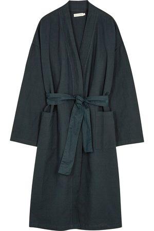 General Sleep Women Bathrobes - Everyone navy cotton-blend robe