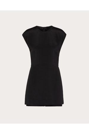 VALENTINO Women Jumpsuits - Short Jumpsuit In Stretch Crepe Couture Women Elastane 1%, Silk 20%, Wool 75% 38