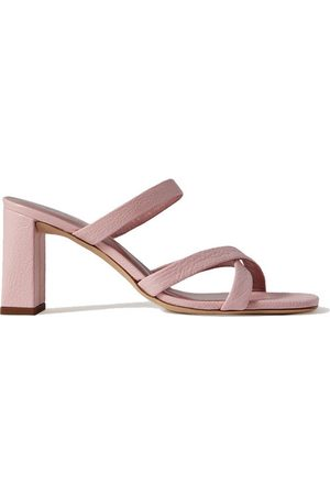 By Far Women Mules - Lenny textured-leather mules