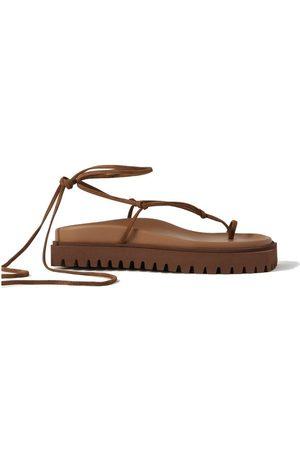 The Attico Renee suede platform sandals