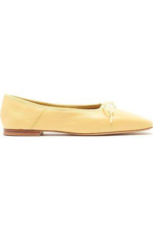 Mansur Gavriel Dream square-toe leather ballerina flats