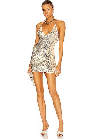 Retrofete Elliana Dress in Metallic