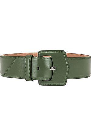 Alaïa Plate Leather Belt in Green