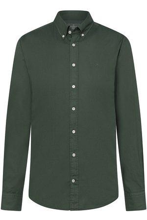 Hackett Men Shirts - Gmt Dye Oxford M Pine Needle