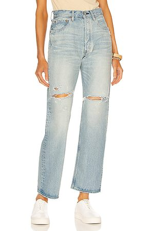 Moussy Teaneck Wide Straight in Denim-Light