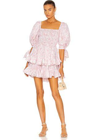 Caroline Constas Finley Dress in Blush