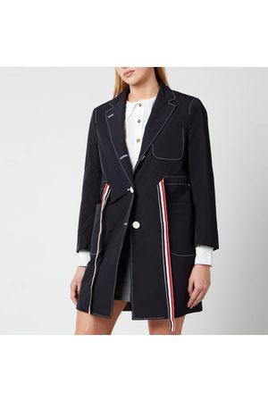 Thom Browne Women's Sack Overcoat with Rwb Gg Belt