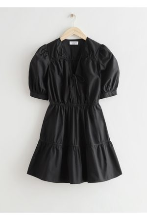 Other Stories Women Party Dresses - Tiered Puff Sleeve Mini Dress