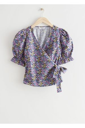 Other Stories Floral Print Wrap Blouse