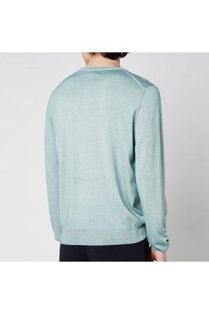Canali Men's Cotton Crewneck Long Sleeve Top
