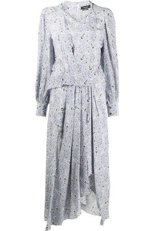 Isabel Marant Women Printed Dresses - Paisley print silk midi dress