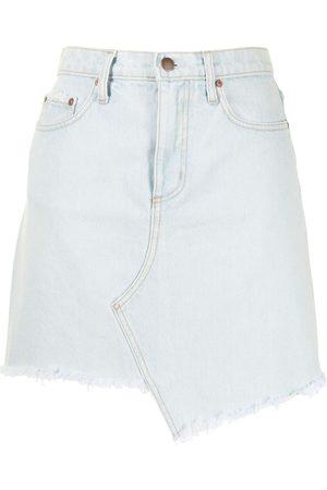 NOBODY DENIM Women Denim Skirts - Raw-hem asymmetric skirt