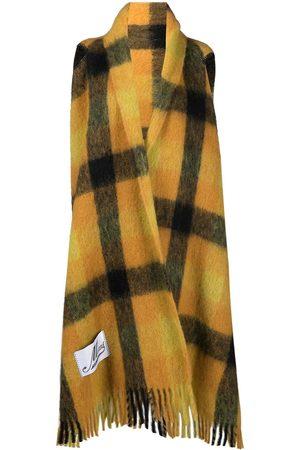 Marni Women Scarves - Check-pattern fringed shawl