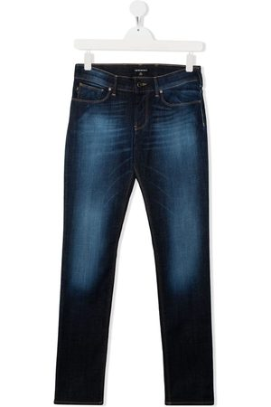 Emporio Armani Kids Boys Jeans - Faded-effect jeans