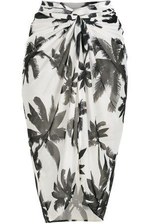 Brigitte Women Printed Skirts - Print Coqueiros midi beach skirt