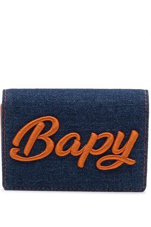 BAPY Women Wallets - Logo-embossed denim wallet
