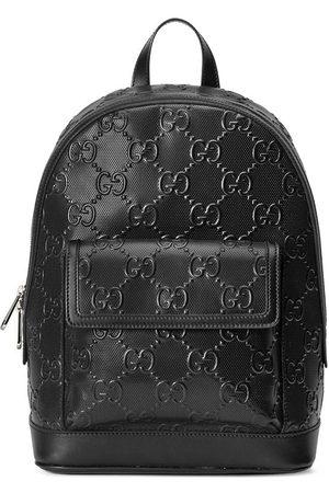 Gucci Men Rucksacks - GG-embossed zipped backpack