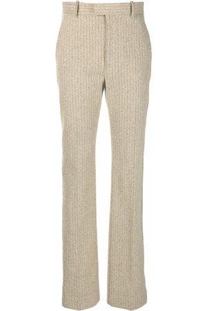 Bottega Veneta Women Straight Leg Pants - High-waisted straight-leg trousers - Neutrals