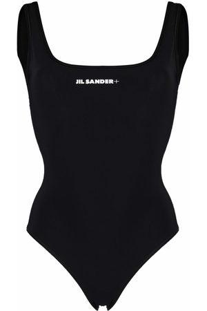 Jil Sander + logo-print swimsuit