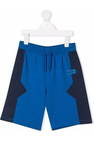 Kenzo Boys Shorts - Colour-block track shorts