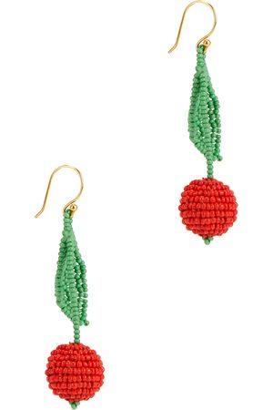 Gimaguas Cherry beaded drop earrings