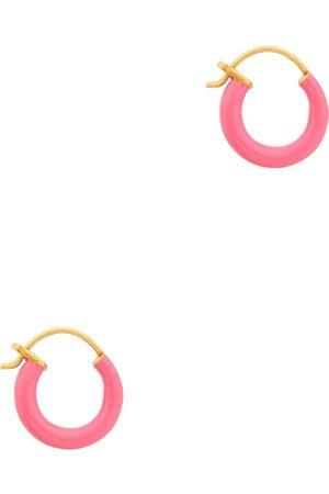 Gimaguas Gold-plated hoop earrings