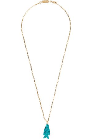 Gimaguas Women Necklaces - Fish gold-plated necklace
