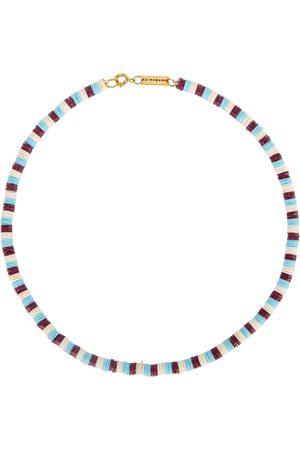 Gimaguas Women Necklaces - Pukas striped sequinned necklace