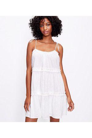 LOFT Women Casual Dresses - Clip Bow Strap Ruffle Swing Dress