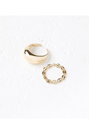 LOFT Women Rings - Bubble Chain Ring Set
