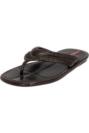 Prada Leather Thong Sandals Size 44.5