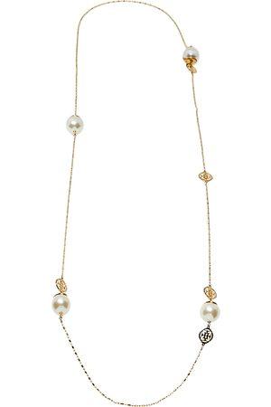 CH Carolina Herrera Women Necklaces - Carolina Herrera Tone Faux Pearl Station Long Necklace