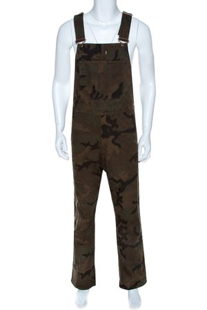 LOUIS VUITTON X Supreme Camo Print Denim Overalls XXS