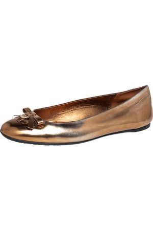 Gucci Women Ballerinas - Leather Slip on Bow Ballet Flats Size 39