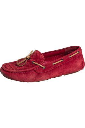 Bottega Veneta Intrecciato Suede Slip On Loafers Size 37