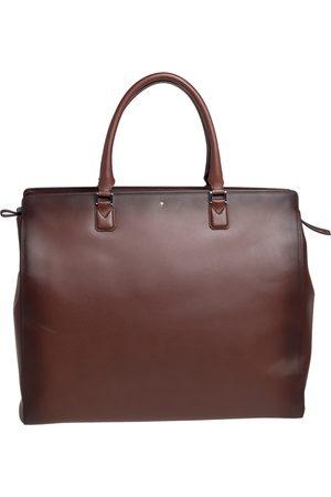 Mont Blanc Men Laptop Bags - Ombre Leather Meisterstück Sfumato Briefcase