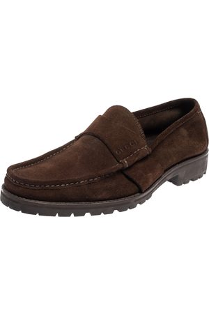 Gucci Suede Slip On Loafers Size 44.5