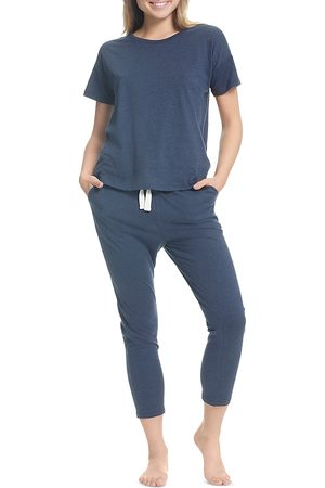 Papinelle Cropped Cotton Pajama Set