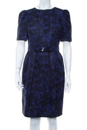 CH Carolina Herrera & Black Jacquard Belted Mini Dress M
