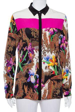 Etro Women Long sleeves - Floral Printed Silk Long Sleeve Shirt M