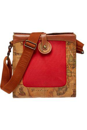 ALVIERO MARTINI 1A CLASSE Women Purses - Geo Print Coated Canvas and Leather Flap Messenger Bag