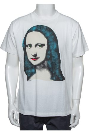 OFF-WHITE Men Short Sleeve - Cotton Monalisa Printed Crewneck T-Shirt XXS
