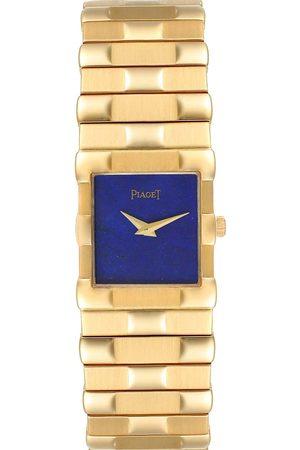 PIAGET Lapis Lazuli 18K Yellow Gold Quartz 81301 Men's Wristwatch 22 MM