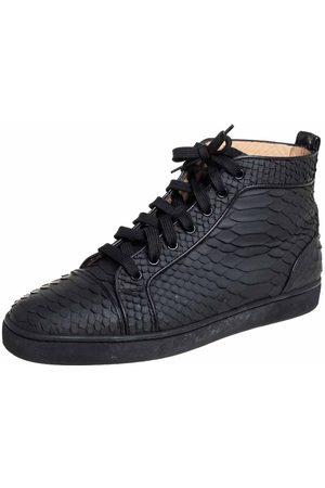 Christian Louboutin Python Louis Flat High Top Sneakers Size 42